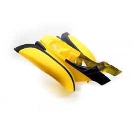Achter spatbord Bashan BS250S-11B geel / zwart