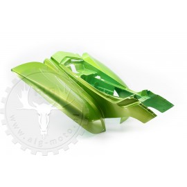 spatbord achter groen bashan